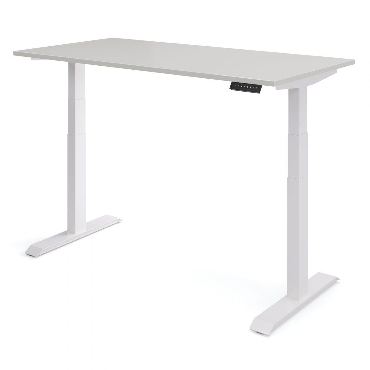 Verstelbaar bureau elektrisch wit wit