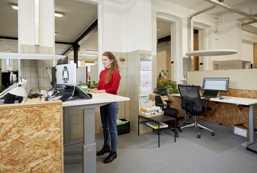 Staand werken zit sta bureau