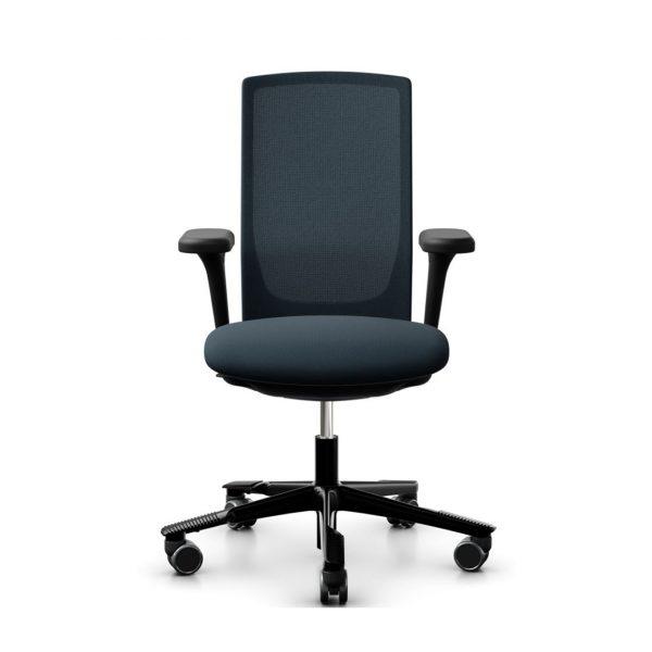 HAG Futu bureaustoel blauw front