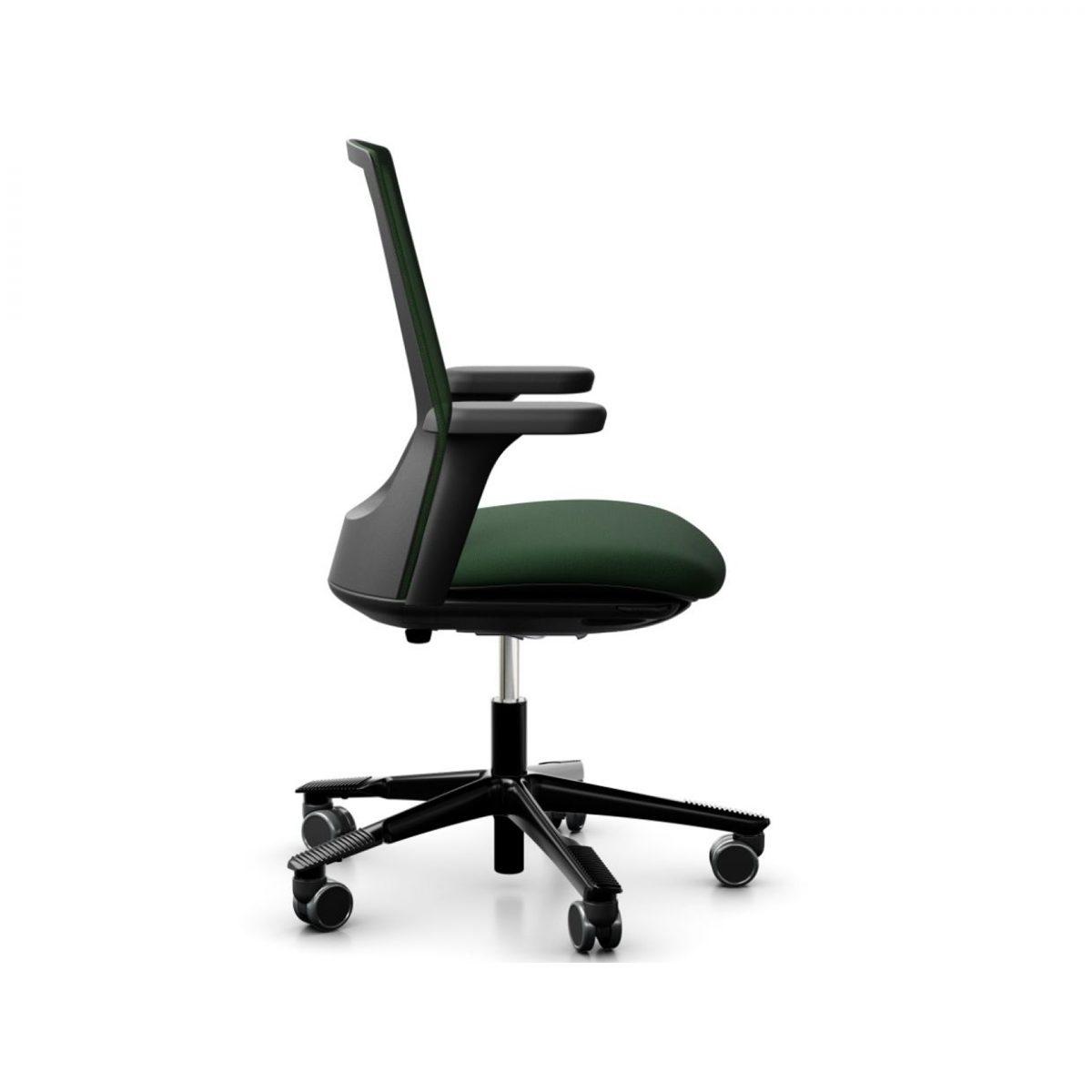 HAG Futu bureaustoel groen zijkant