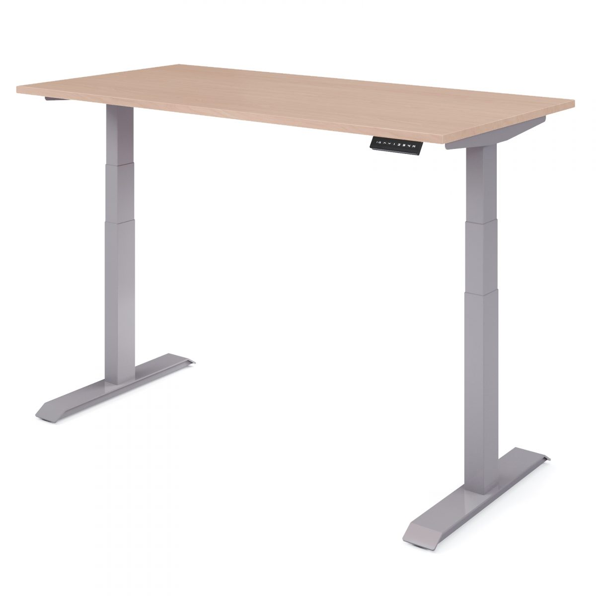 Upper zit sta bureau grijs - hoog