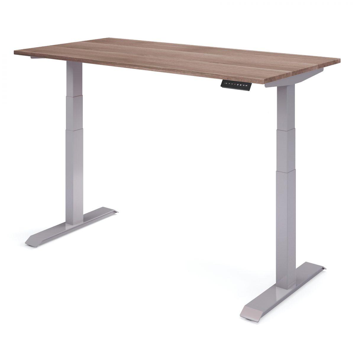 elektrisch bureau verstelbaar hoog grijs- havana Upper