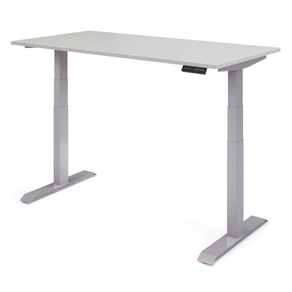 elektrisch bureau verstelbaar hoog grijs - wit Upper